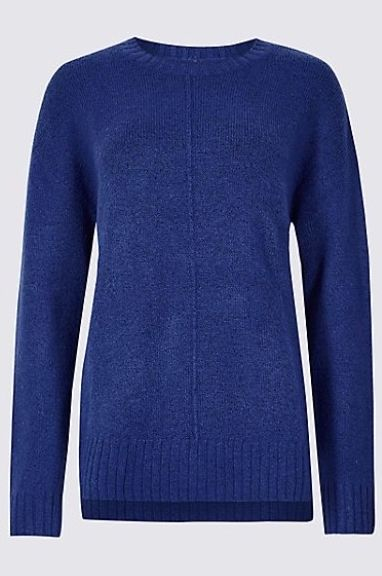 M&S Relaxed Supersoft Round Neck Jumper