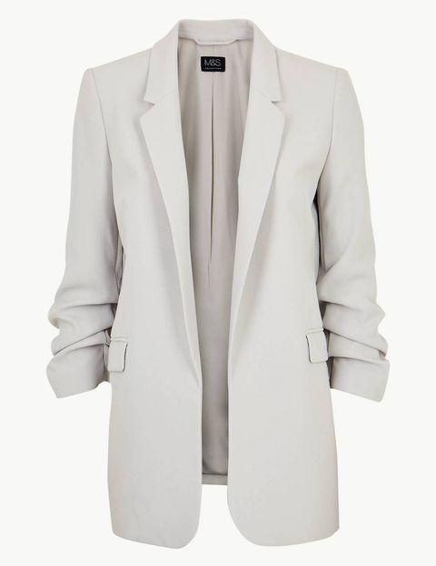M&S Ruched Blazer Jacket