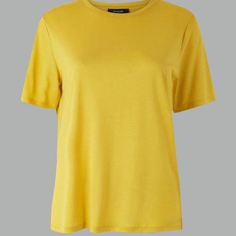 M&S Round Neck Shirt Sleeved T-Shirt