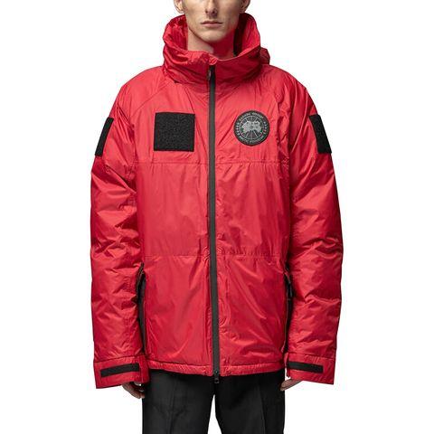 Jacket, Outerwear, Clothing, Hood, Red, Raincoat, Sleeve, Windbreaker, Coat, Parka,