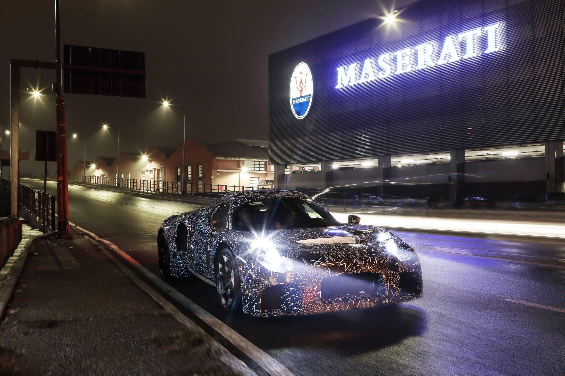 This Camouflaged Maserati Prototype Looks Like a Striking Mid-Engine Exotic