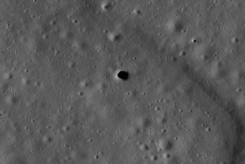 the marius hills pit is a possible skylight in a lava tube in an ancient volcanic region of the moon called the marius hills this lroc image is the highest resolution image of the pit to date