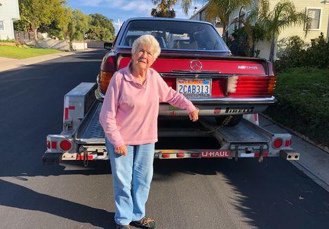 Vehicle, Car, Asphalt, Automotive exterior, Full-size car, Mercedes-benz w123, Sedan,
