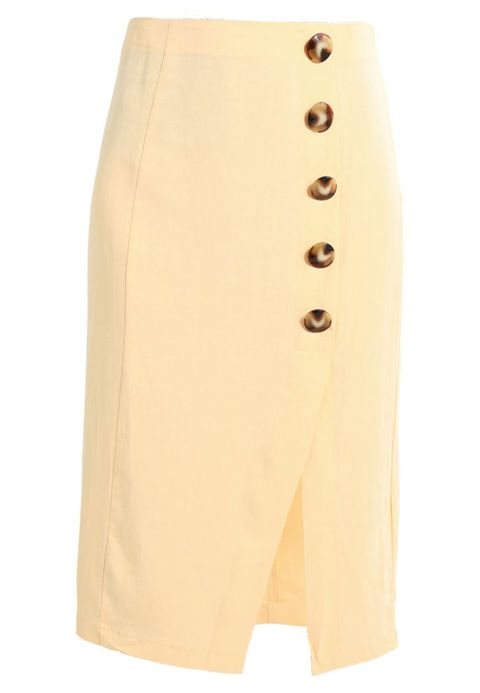 Clothing, Pencil skirt, Beige, Shorts, Waist, Trunks, Active shorts, Button,