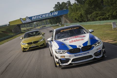Driving The Bmw M4 Gt4 Factory Race Car On Track