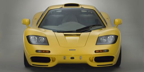 Land vehicle, Vehicle, Car, Supercar, Sports car, Automotive design, Yellow, Coupé, Performance car, Mclaren f1,