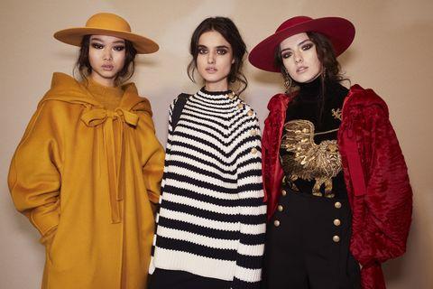 Clothing, Hat, Sleeve, Textile, Outerwear, Jacket, Headgear, Costume accessory, Fashion, Fashion model,