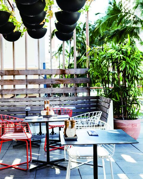 Green, Houseplant, Table, Furniture, Interior design, Flowerpot, Room, Architecture, Design, Patio,