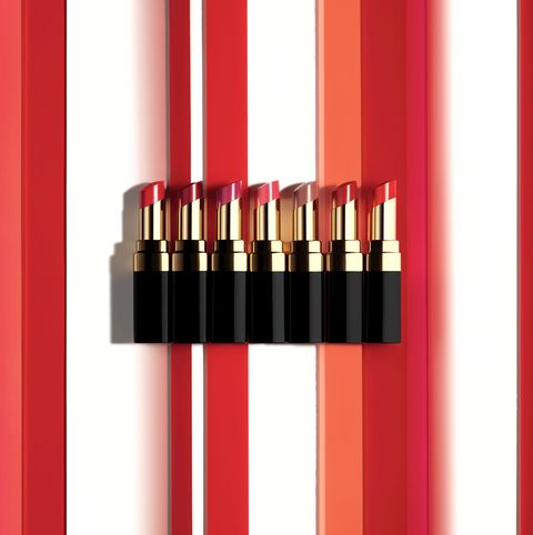 Red, Cosmetics, Beauty, Lipstick, Material property, Office supplies, Lip gloss, Cylinder,