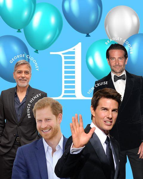「1」が「鍵の数字」の男性セレブはトム・クルーズ、ブラッドリー・クーパー、ジョージ・クルーニー、ザ・ウィークエンド、ヘンリー王子、ネイマールなど。