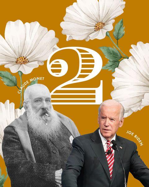 「2」が「鍵の数字」の男性著名人はジョー・バイデン、クロード・モネなど。