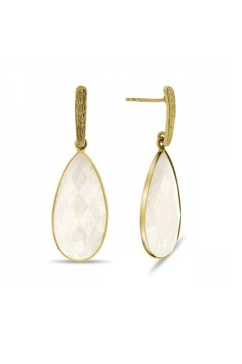 Earrings, Jewellery, Fashion accessory, Body jewelry, Beige, Oval, Metal,
