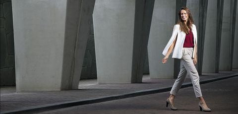 White, Clothing, Fashion, Street fashion, Blazer, Suit, Leg, Outerwear, Jeans, Photography,