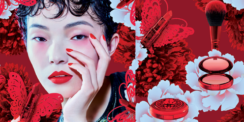 Red, Beauty, Lip, Illustration, Colorfulness, Eyelash, Graphic design, Graphics, Art, Petal,
