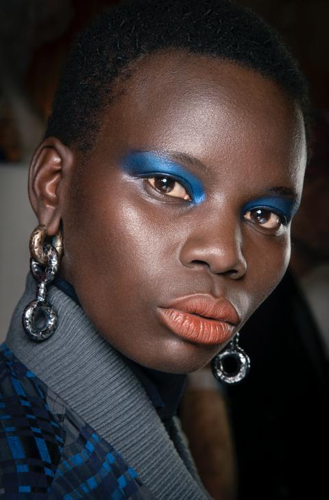 mac cosmetics model eye make up