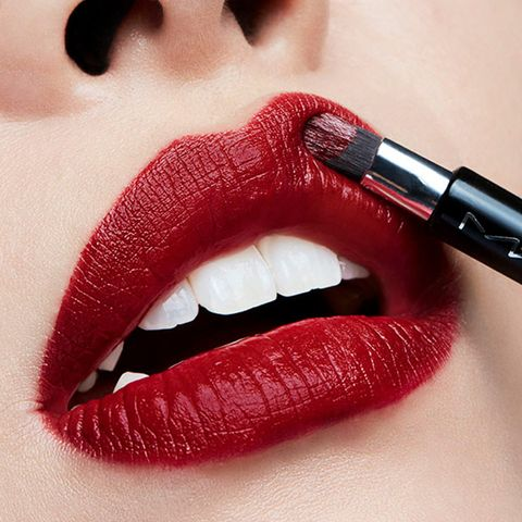 Lip, Red, Lipstick, Mouth, Beauty, Cosmetics, Lip gloss, Close-up, Finger, Material property,