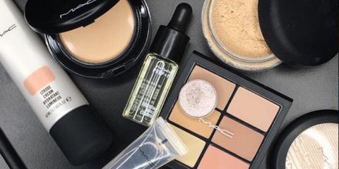 MAC makeup for glowy skin
