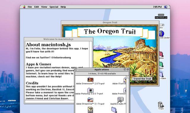 a screenshot of mac os 8, including oregon trail