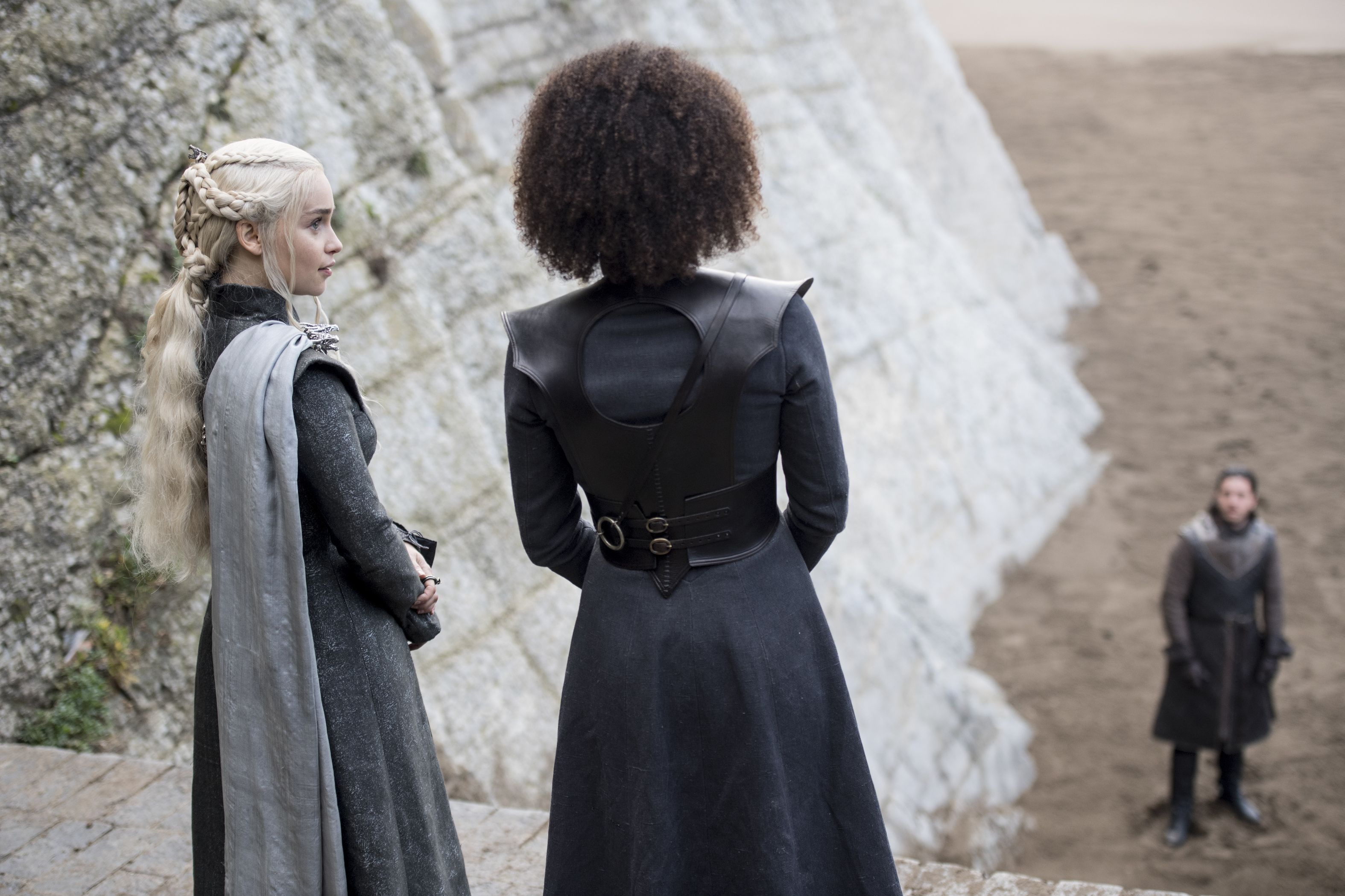 Dany and Missandei on Game of Thrones