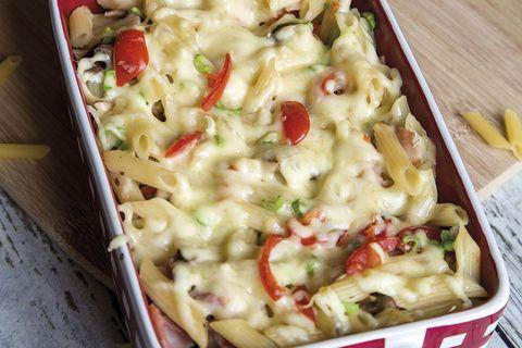macarrones con setas al queso