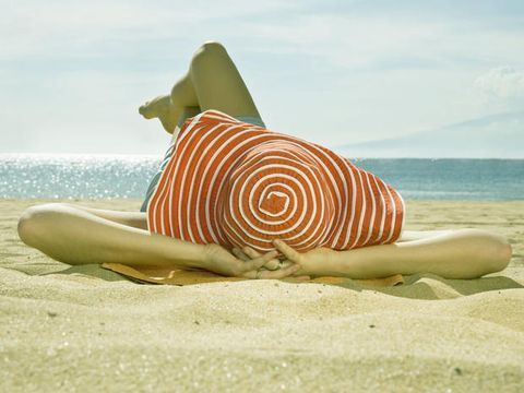 Coastal and oceanic landforms, Landscape, Sand, Summer, Shore, Costume accessory, Ocean, Coast, Beach, Sea,