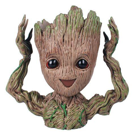 Maceta con la cabeza de Groot de la película 'Guardianes de la galaxia'