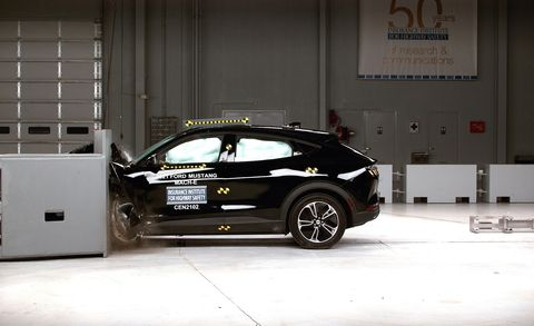 iihs crash test of ford mustang mach e