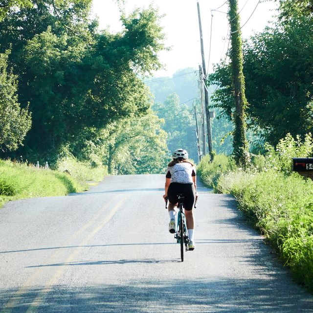 woman cyclist out on a ride