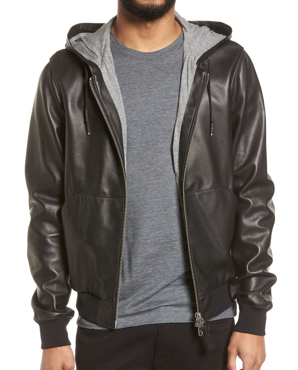 Mackage Hooded Leather Jacket