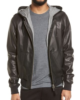 Mackage Hooded Leather Jacket