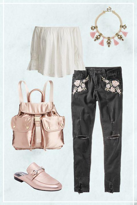 White, Clothing, Pink, Jeans, Footwear, Fashion, Shorts, Trousers, Shoe, Denim,