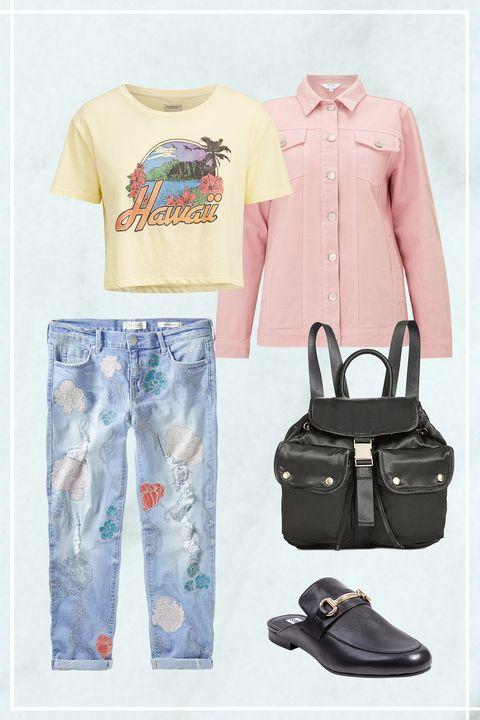 Clothing, White, T-shirt, Blue, Product, Footwear, Jeans, Font, Shoe, Textile,