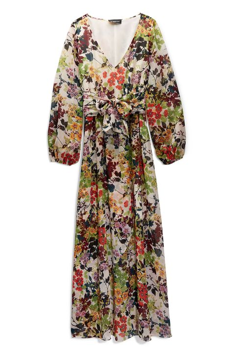 Clothing, Sleeve, Dress, Day dress, Outerwear, Robe, Neck, Blouse, Top, Pattern,