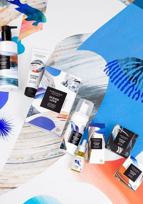 Productos de Mádara de al colección Ocean Love
