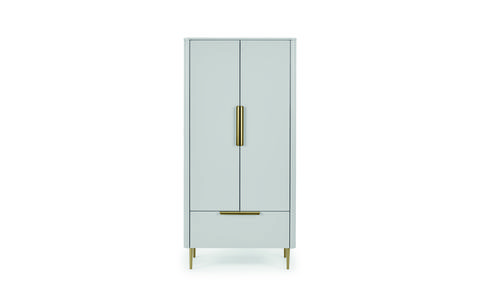 ebro double wardrobe, grey £699