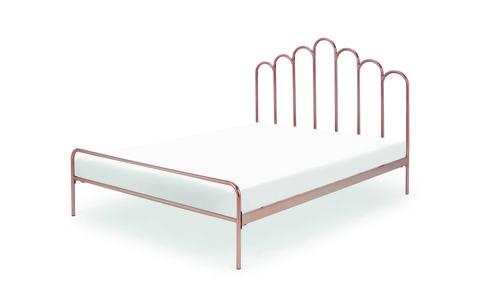 kiruna king size bed, copper £449