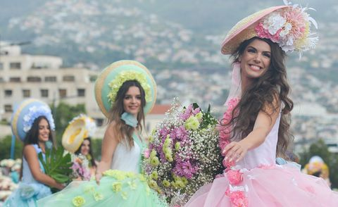 Festival holidays - Madeira Flower Festival Parade 2018 in Funchal