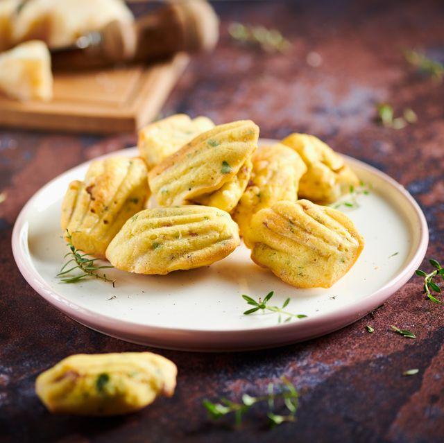 madeleines made with veroni salami