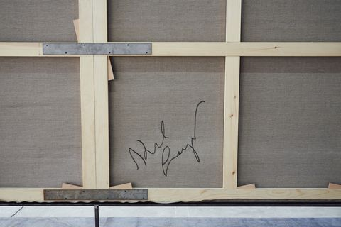 Wall, Wood, Text, Line, Material property, Font, Window, Architecture, Rectangle, Plywood,