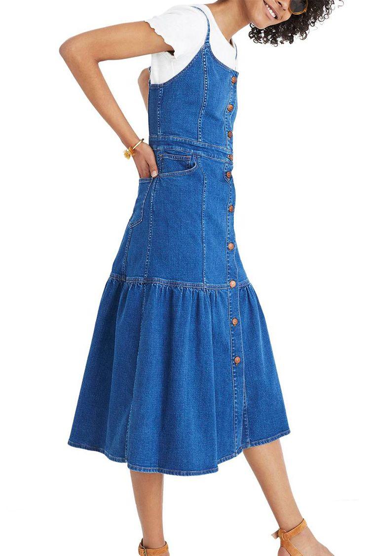 madewell denim midi dress