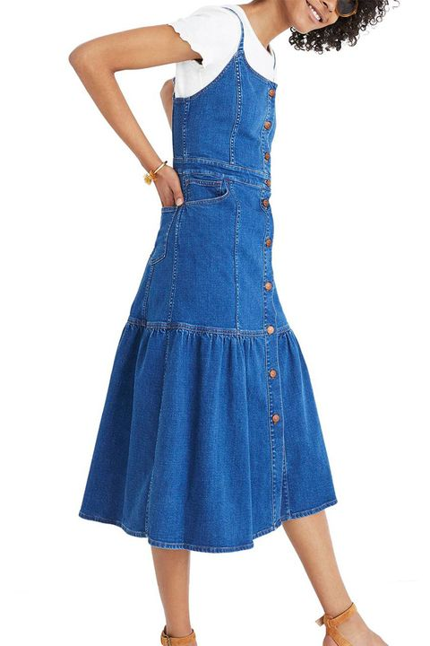 madewell denim midi dress