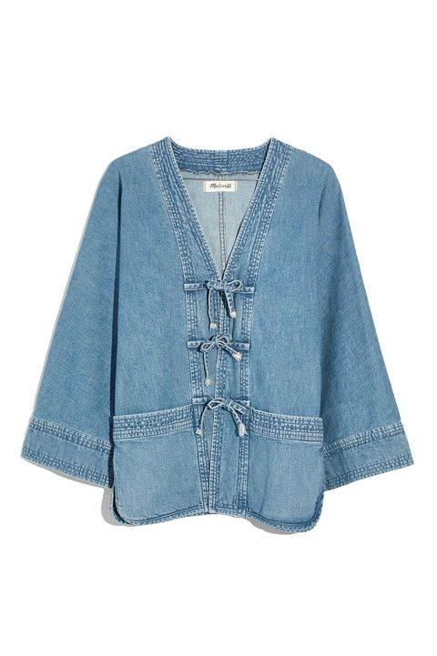 Clothing, Outerwear, Blue, Denim, Sleeve, Jacket, Pocket, Textile, Cardigan, Blouse,