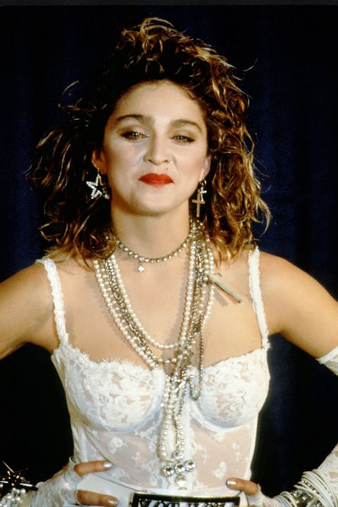 Madonna during a performance at MTV Video Awards