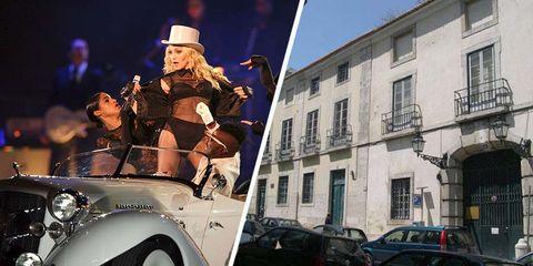 Palacio Pombal de Lisboa aparcamiento de Madonna