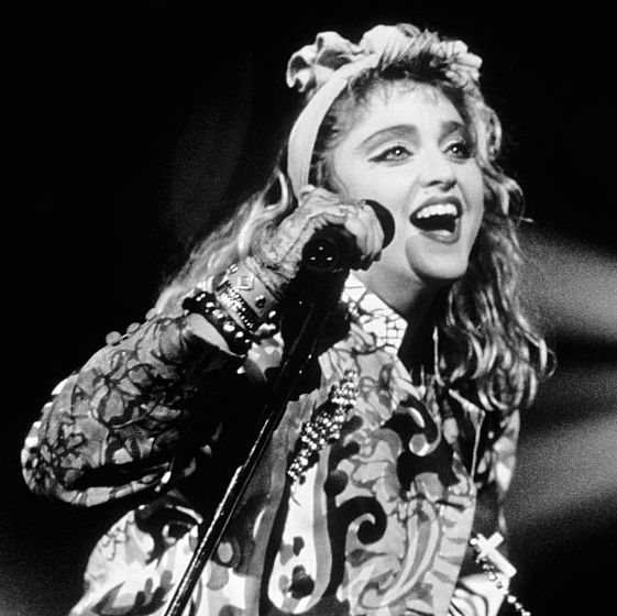 madonna on stage in new york