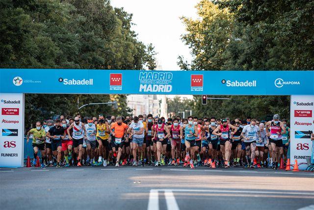 salida de la carrera popular madrid corre por madrid de 2021