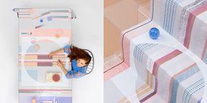 Textielontwerper Mae Engelgeer heeft een tafelgoedcollectie ontworpen voor het Textielmuseum.