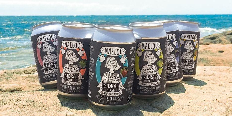 Latas de sidra de la marca 'Maeloc'