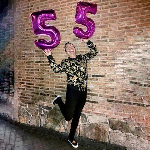 Pink, Wall, Street art, Cool, Footwear, Shoe, Brick, Photography, Leggings, Happy,