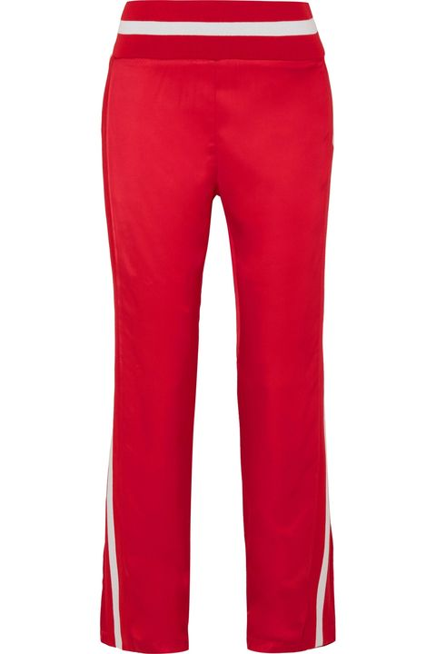 Clothing, Red, Active pants, sweatpant, Sportswear, Trousers, Pocket, Jeans, Waist, Leggings,